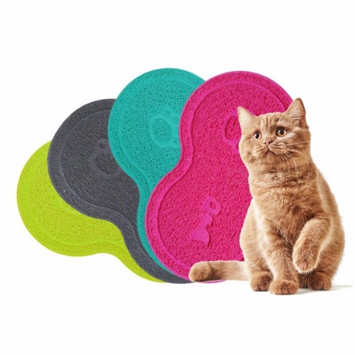 Colorful Wipe Clean Pet Supplies, Dog Puppy Cat Feeding Mat Pad, Cute PVC Bed Dish Bowl Food Water Feed Placemat