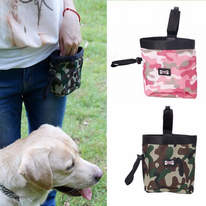 Pet Dog Puppy Pouch Walking Food Treat Snack Bag, Agility Bait Training Pocket, Waist Storage Hold Food Container Bag
