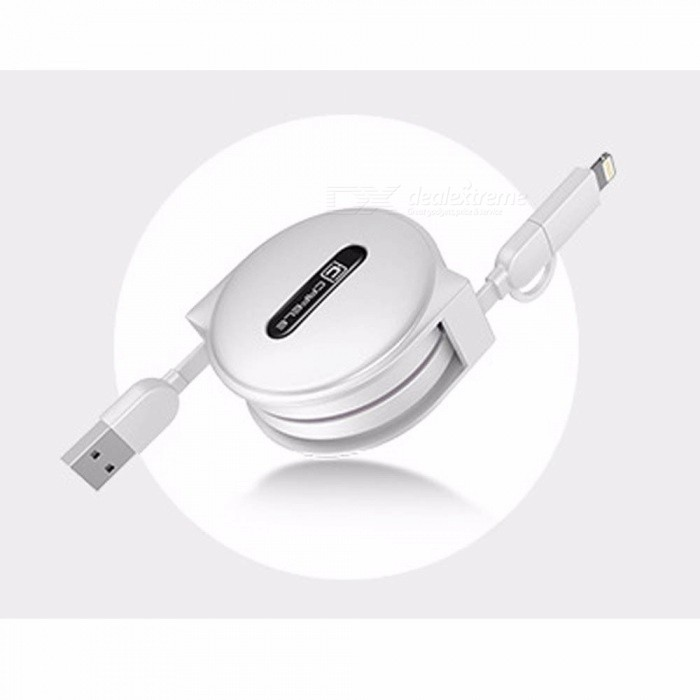 Durable 1.5m Lighting Cable, Micro USB Cable, Retractable Fast Charging Data Cable 1.5m