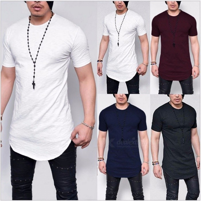 Summer New Solid Color Slim Men's Short-sleeved T-shirt, Casual O-neck T-shirt, Simple Fashion Men Clothing