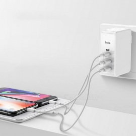 HOCO-C32-Dual-USB2bTYPE-C-Charger-Travel-Fast-Portable-Phone-Charger-White