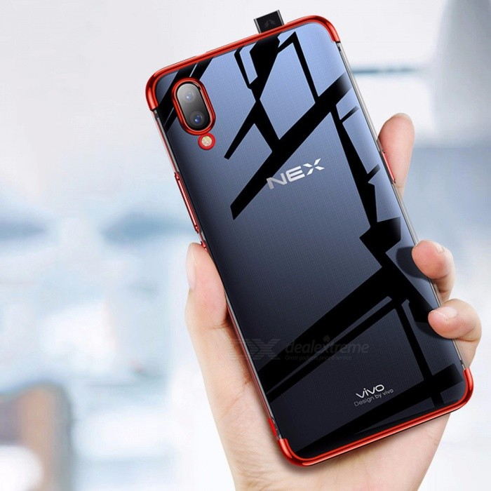 Vivo X21UD Cell Phone Case Transparent Nex Anti-knock Fitted Cases Red