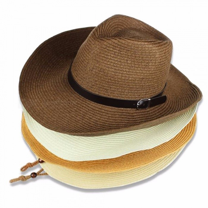 Summer Women Hat Sun Hats For Women Cowboy Straw Hat For Women's Hat White