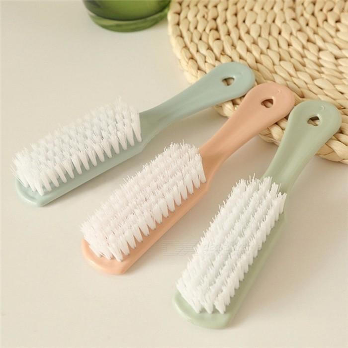 Plastic Small Brush Shoes Cleaning Brush Soft Hair Washing Shoes Brush Light Green