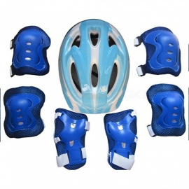 7Pcs-Ice-Skating-Elbow-Knee-Protective-Gear-Bicycle-Kid-Helmet-Child-Sports-Safety-Scooter-Cycling-Set-For-5-13-Year-old-Blue