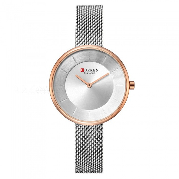 CURREN 9030 Fashion Waterproof Round Dial Women's Quartz Watch - White