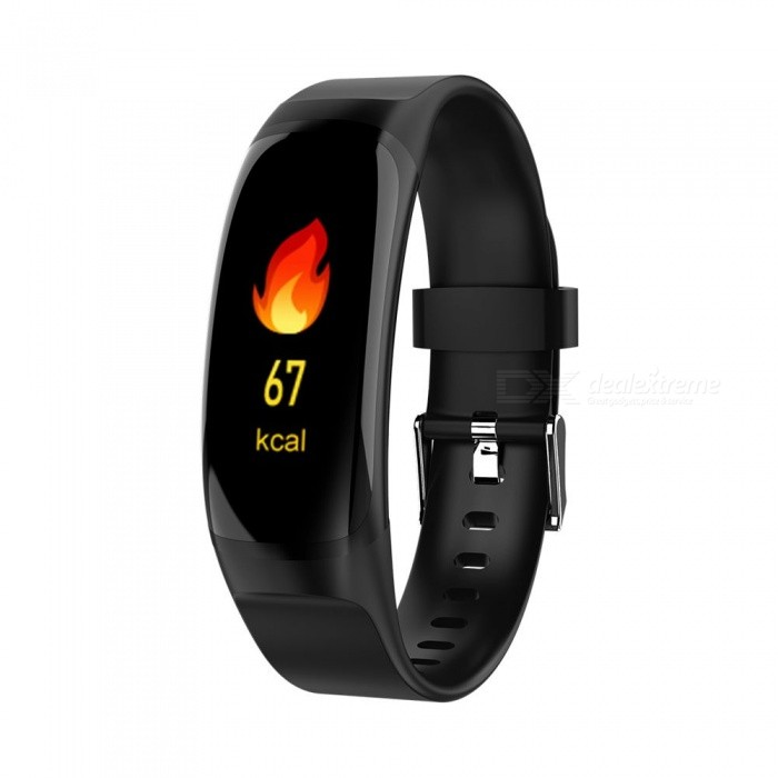MK04 0.96inch Color Screen Blood Pressure Heart Rate Without Frame Smart Bracelet Sleep Monitoring - Black
