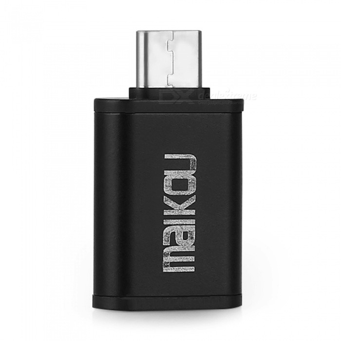 Buy Maikou Metal Type-C to USB3.0 OTG Adapter - Black with Litecoins with Free Shipping on Gipsybee.com