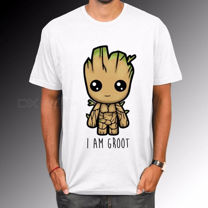 New Guardians Of The Galaxy 2 Men's T-shirt, Summer Fun I Am GROOT Letter Pattern T-Shirt, Cool Female Tops