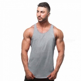 Solid-Color-I-shaped-Vest-For-Exercise-Workout-Cotton-Thin-Sports-Tank-Tops-Vest-For-Men