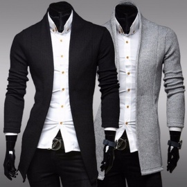 Spring-Winter-Simple-V-Neck-Long-Sleeve-Knitwear-Sweater-Mens-Casual-Slim-Fit-Sweater-Black
