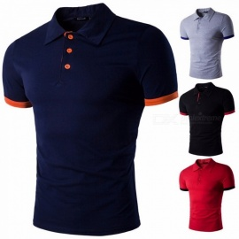 Summer-New-Short-Sleeved-Mens-T-shirt-Unique-Casual-Cotton-Lapel-Polo-Shirts