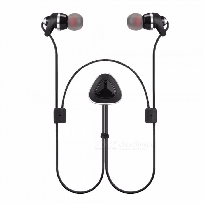 BYZ YS032 Wireless Stereo Bluetooth Headphones Sports Headset Noise Isolated Power Display Voice Call Earphone With Mic Black