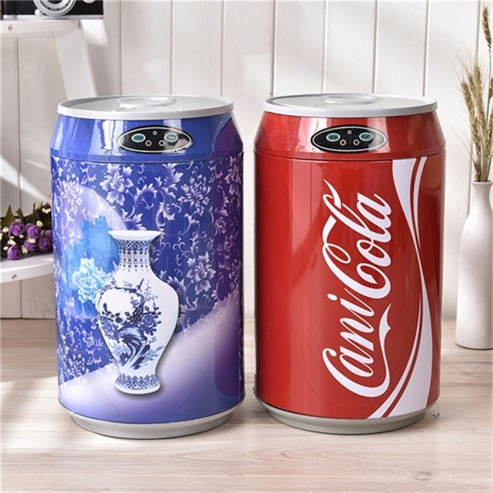 Soda Can Style Stainlesss Steel Smart Auto Sensor Trash Can Waste Bins Storage Bucket Home Rubbish Organizer