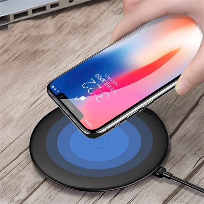 USAMS CD33 New 2 In 1 Vertical Phone Holder Supine Fast Wireless Charger Wireless Charging For IPHONE Samsung Red