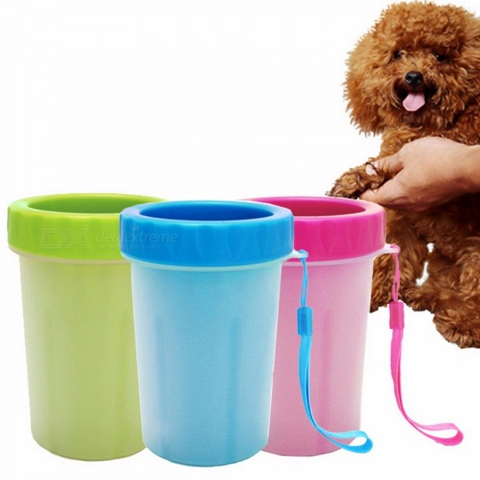 Explosion Models Dogs Clean Cup Washing Feet Cats Washing The Claws Silicone Brush Pet Foot Cup Antibacterial Green/S