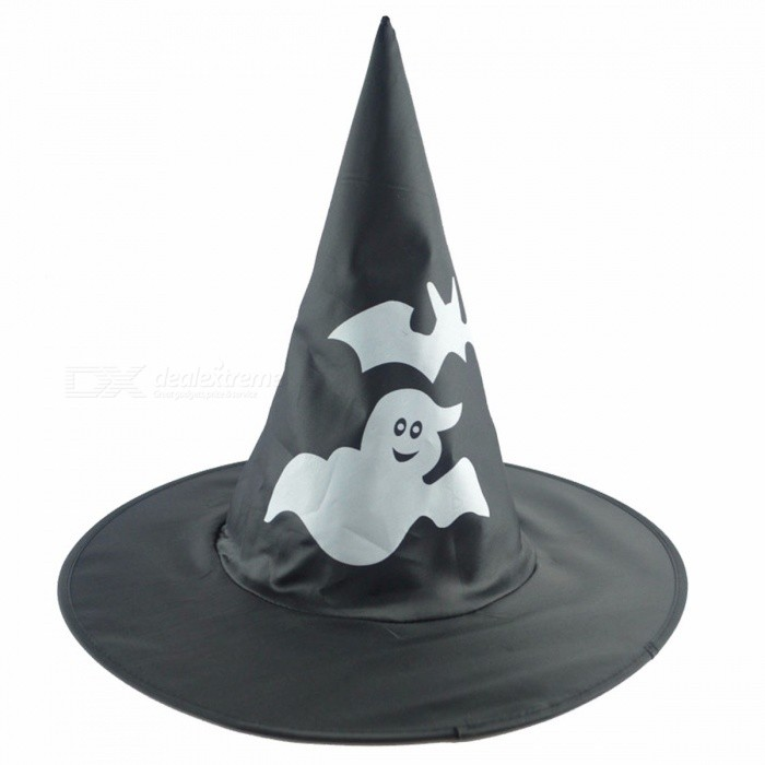 Witch Hats Masquerade Ribbon Wizard Hat Party Hats Cosplay Costume Accessories Halloween Party Fancy Dress Decorations Gray