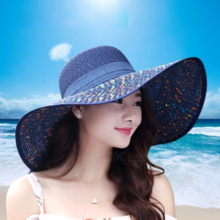 Women's Sun Hat Straw Wide Brim Bow Knot Linen Fashion Casual UV Protection Summer Beach Cap Outdoor White