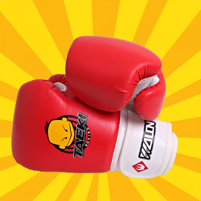 Children's Boxing Gloves Child Sanda Gloves Training Muay Thai Fighting Sanda Fitness Red