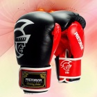 PU-Leather-Boxing-Gloves-Twin-Women-Men-MMA-Gym-Training-Grant-Boxing-Gloves-Black