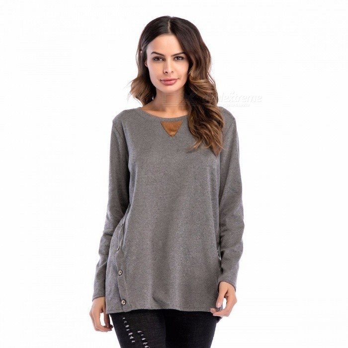 New Plus Size Women Clothing Autumn Spring Long-sleeve T-shirt Black/S