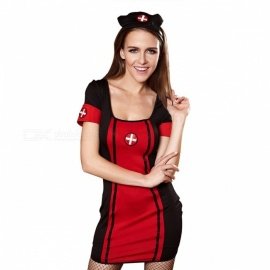 882f29c29233c Halloween Costume Women Sexy Nurse Costume Back Bandage Cosplay Uniform  Clothes Dress With Headband For Women