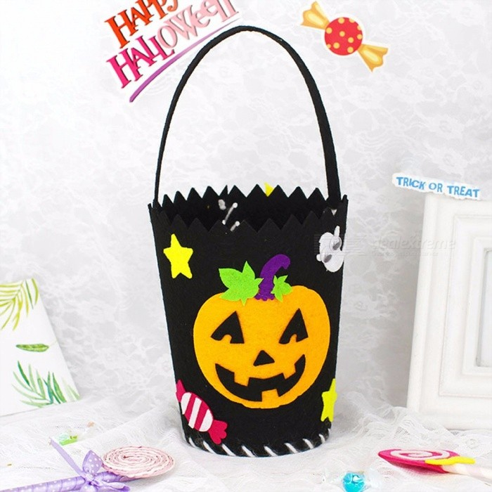 Kindergarten Creative DIY Handmade Material Bag Halloween Candy Bag Blue