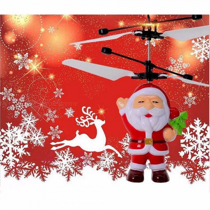 Electric-Infrared-Sensor-Flying-Santa-Claus-LED-Flashing-Light-Toys-RC-Helicopter-Drone-Toy-Kids-Magic-Christmas-Gift-Red