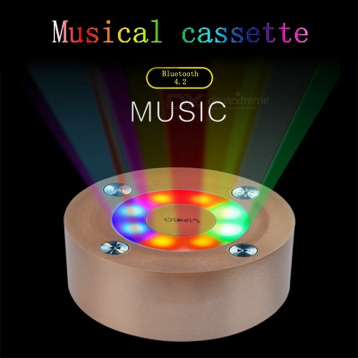C2 Mini Wireless Bluetooth Speaker Ultra-Thin Portable Subwoofer Phone Small Steel 3D Stereo Music Play Speakers Gold/Speaker