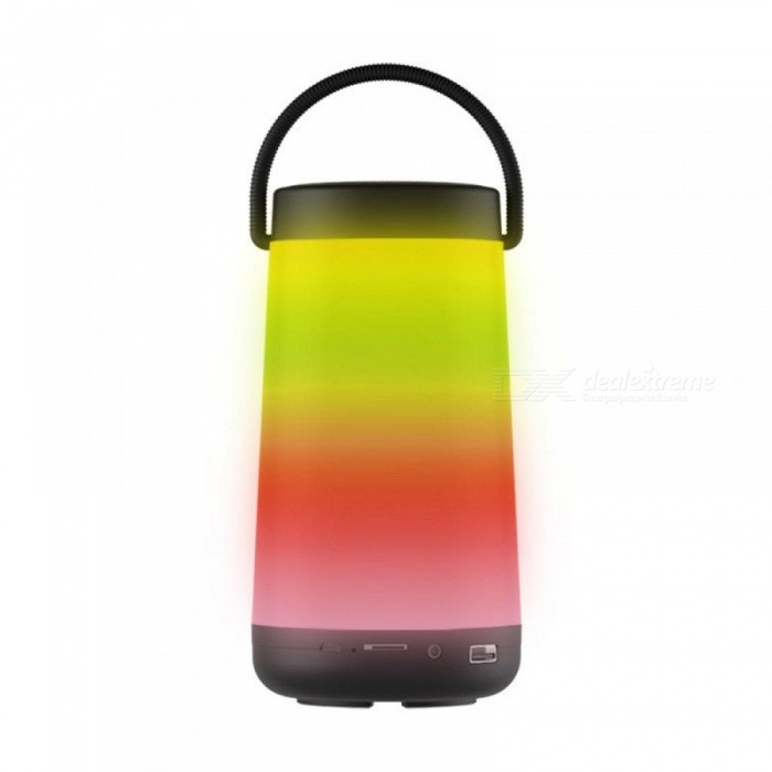 LED Bluetooth Portable Speakers Flame Lights Style Wireless Speaker Bluetooth2.1 Torch Speakers Black/Speaker