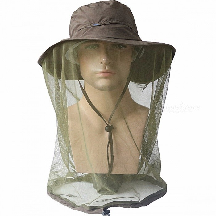 Midge Mosquito Insect Hat Fishing Bug Mesh Head Net Face Protector Travel Camping Bucket Hats