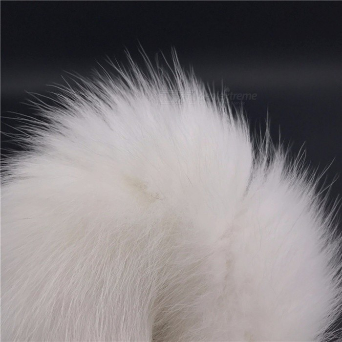 0dbfc290f64 White Anal Plug Faux Fox Tail Stainless Steel Butt Plug Cat Tail Anal Plug  Cosplay Sex Toys Metal Bu