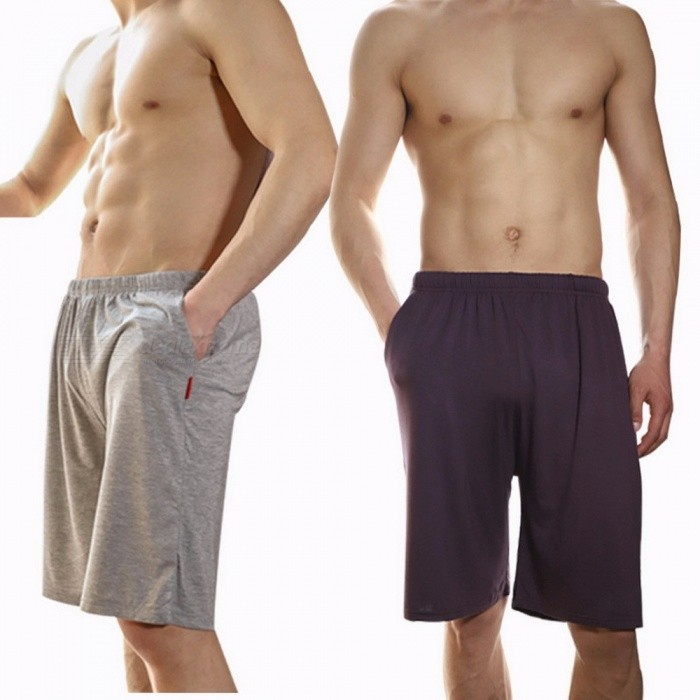Summer Modal Men's Sleep Bottoms, Soft Thin Loose Casual Pants Shorts For Men