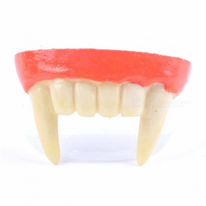 Resin Vampire Teeth, Vampire Fangs Denture, Halloween Party Favors Cosplay Prop Decorative Horror Scary Teeth White