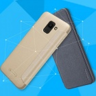 Dust-proof Flip-Open Leather Back Cover, Phone Case For Samsung Galaxy J6 Black/PC