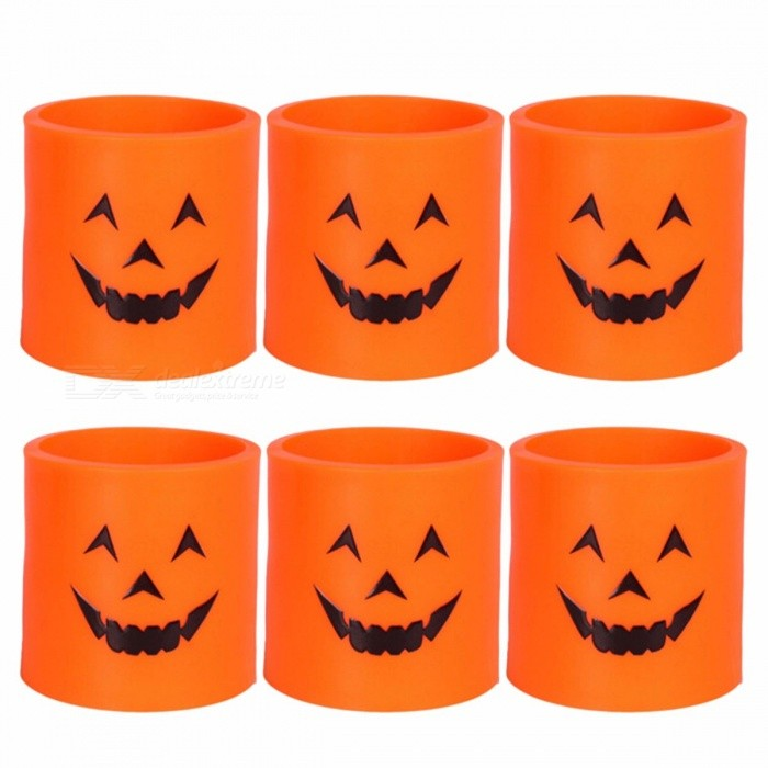6Pcs-Plastic-Pumpkin-LED-Candle-Light-Lamp-Decorative-Yellow-Light-For-Halloween-Party-YellowOrange0-5W