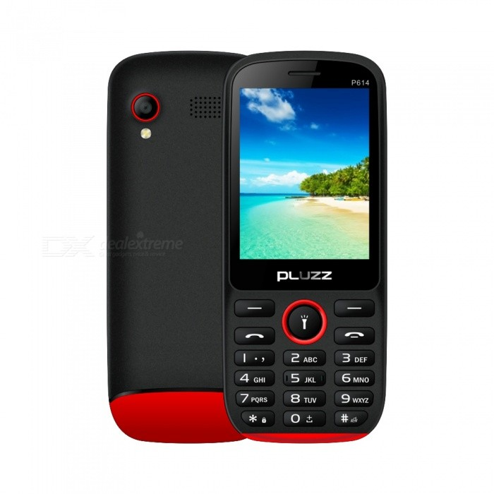 Buy PLUZZ P614 SC 6531DA 3000mAh High Capacity Battery Feature Phone with Litecoins with Free Shipping on Gipsybee.com
