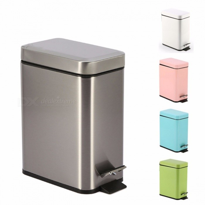 Pedal Household Square Trash Can Kitchen Living Room Bathroom With Lid Creative Paper Trash Can