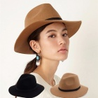 10025-Wool-Hat-Cowboy-Hat-Jazz-Hat-Top-Hat-Felt-Hat-Wide-Brim-Fashion-Vintage-Autumn-Winter-Black