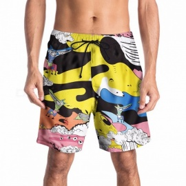 Summer-Male-Swimming-Trunks-Creative-Cartoon-Printing-Beach-Pants-Tide-Brand-Loose-Casual-Large-Size-Pants-MultiM