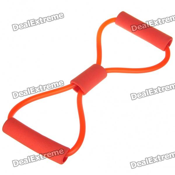 Buy 8 Shaped Rubber Resistance Exercise Band Tube - Color Assorted with Litecoins with Free Shipping on Gipsybee.com
