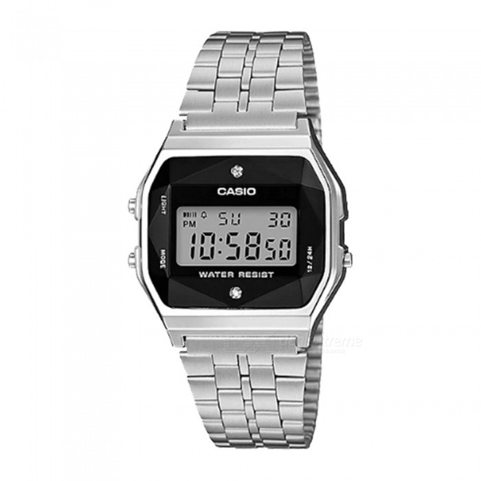 Casio A159WAD-1 Digital Ladies Watches Diamonds - Silver (Without Box)