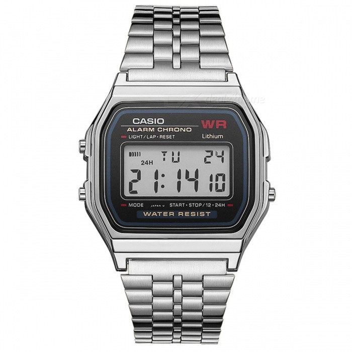 Casio A159W-N1 Digital Fashion Vintage Watches - Silver (Without Box)