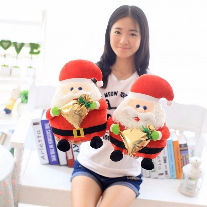 Mi Xiu Factory Spot Wholesale Santa Claus Plush Toys Holiday Gifts For Friends 30cm 11cm-30cm/Red