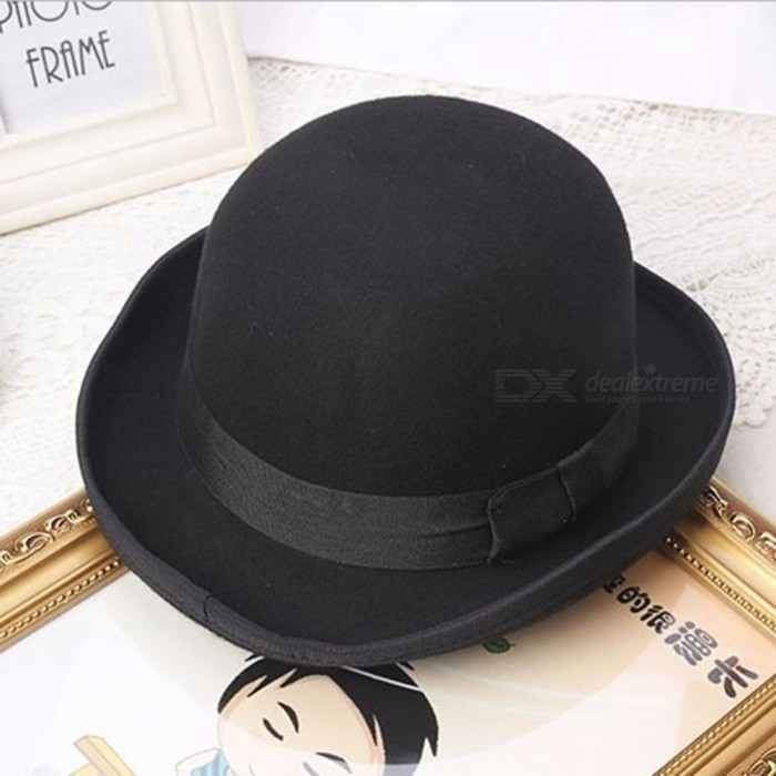 Winter-Warm-Hat-Korean-Version-Of-The-Cashmere-Wool-Woolen-Cap-Dome-Small-Bow-Hat-Black