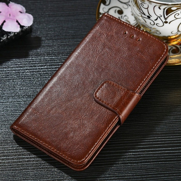 Protective PU + TPU Flip Open Case For Huawei P20 LITE/NOVA 3E, P20 PRO, P20, Cell Phone Case With Card Slots, Stand Dark Brown/P20 PRO