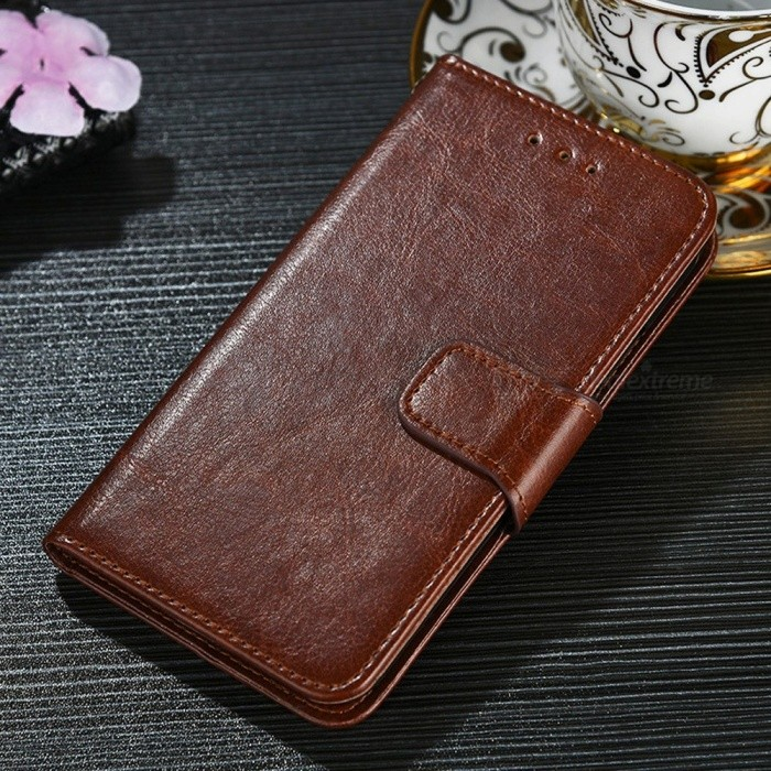 Protective PU + TPU Flip Open Case For Huawei P20 LITE/NOVA 3E, P20 PRO, P20, Cell Phone Case With Card Slots, Stand Dark Brown/P20