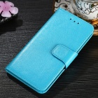 Protective PU + TPU Flip Open Case For Huawei P20 LITE/NOVA 3E, P20 PRO, P20, Cell Phone Case With Card Slots, Stand Sky Blue/P20