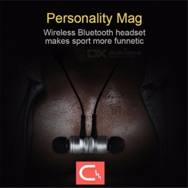 Binai-V1-Magnetic-Adsorption-Wireless-Bluetooth-Earbuds-Mini-Sport-Bluetooth-Headset-Earphone-With-Mic-For-Mobile-Phone-Gray