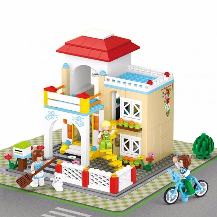 Girl Friend Sweet Home Kid Dream Shopping Series Building Blocks Sets Model Toys Mini Brick Jigsaw Puzzles Multicolor